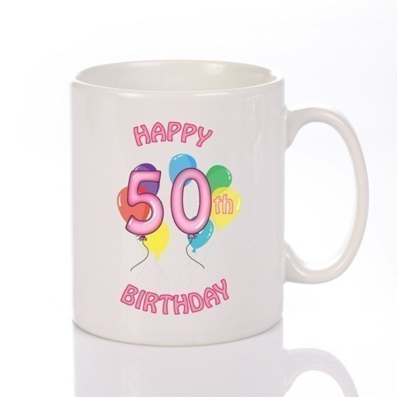 Personalised Happy 50th Birthday Girl Mug Product Image