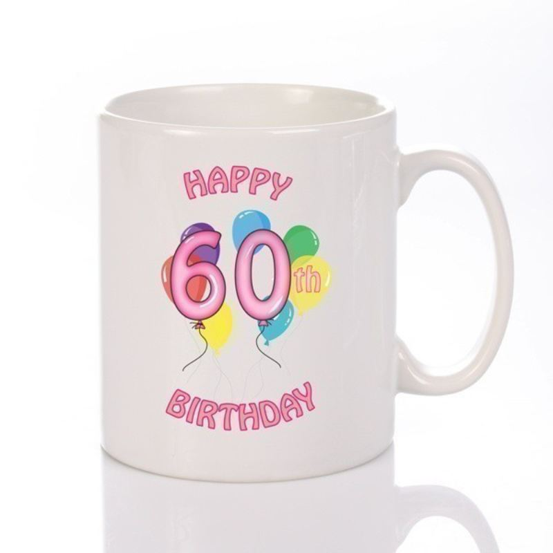 Personalised Happy 60th Birthday Girl Mug product image