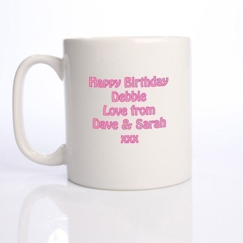 Personalised Happy 70th Birthday Girl Mug product image