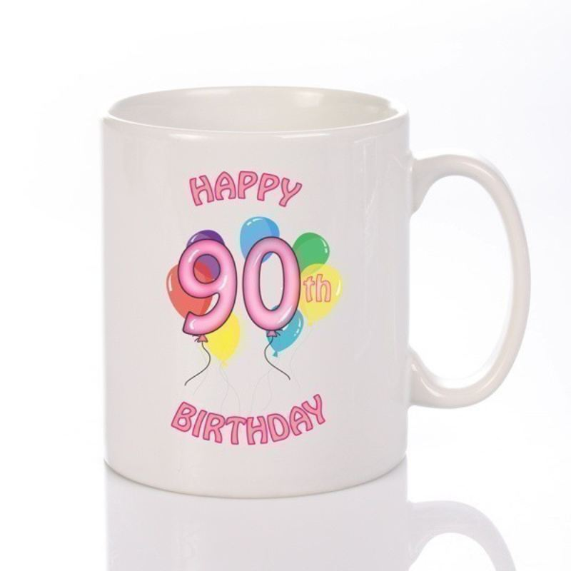 Personalised Happy 90th Birthday Girl Mug product image