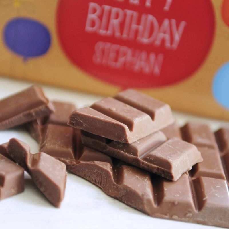 Personalised Happy Birthday Chocolate Bar for Him product image