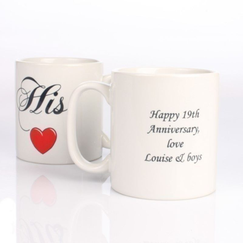 Personalised His and Hers Mugs product image