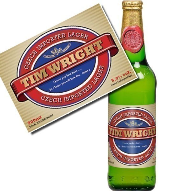Personalised Lager Label - Modern Gift Set product image