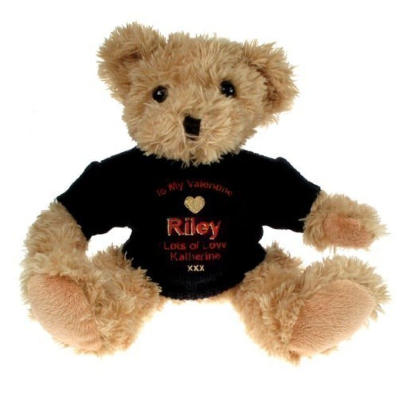 Personalised Light Brown Valentine S Day Teddy Bear For Him The
