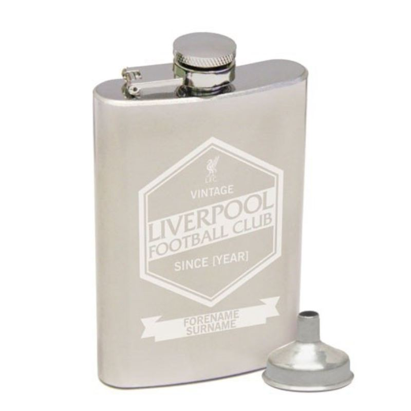 Personalised Liverpool Vintage Hip Flask product image