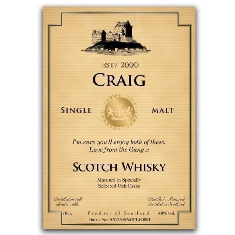 Personalised Malt Whisky & Cigar product image