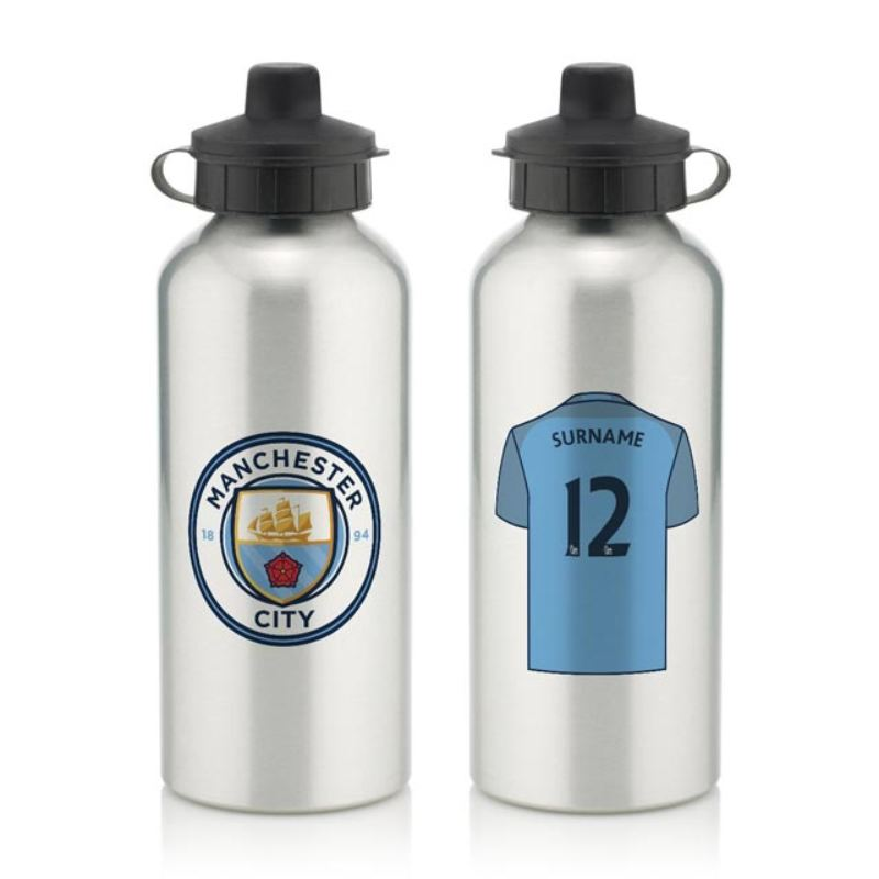 Personalised Manchester City Aluminium Water Bottle (600ml) product image