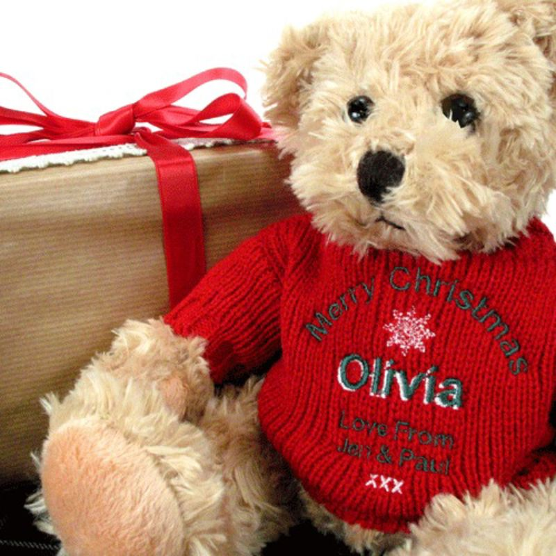 Personalised Merry Christmas Teddy Bear product image