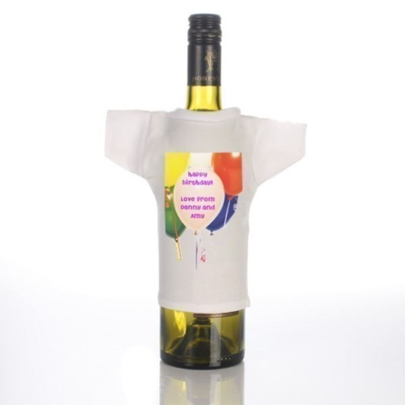 Personalised Message Balloons Wine Bottle T-Shirt product image