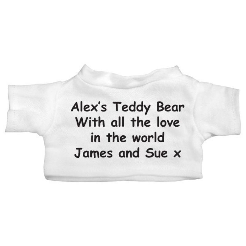 Personalised Message Teddy Bear product image