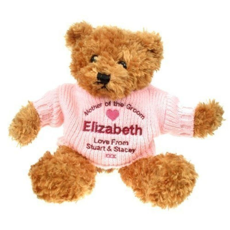 Personalised Mother Of The Groom Brown Teddy Bear product image