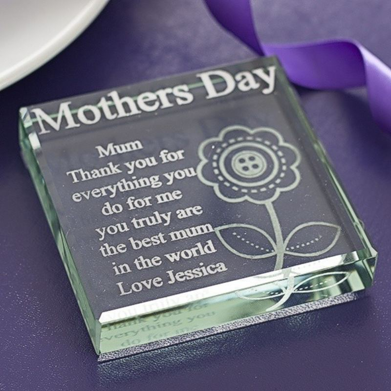 Personalised Mother's Day Glass Keepsake product image