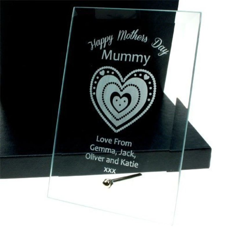 Personalised Mother's Day Glass Plaque product image