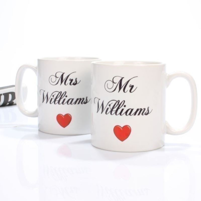 Personalised Mr and Mrs Mugs product image