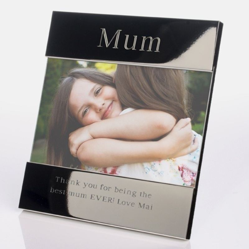 Personalised Mum Shiny Silver Photo Frame product image