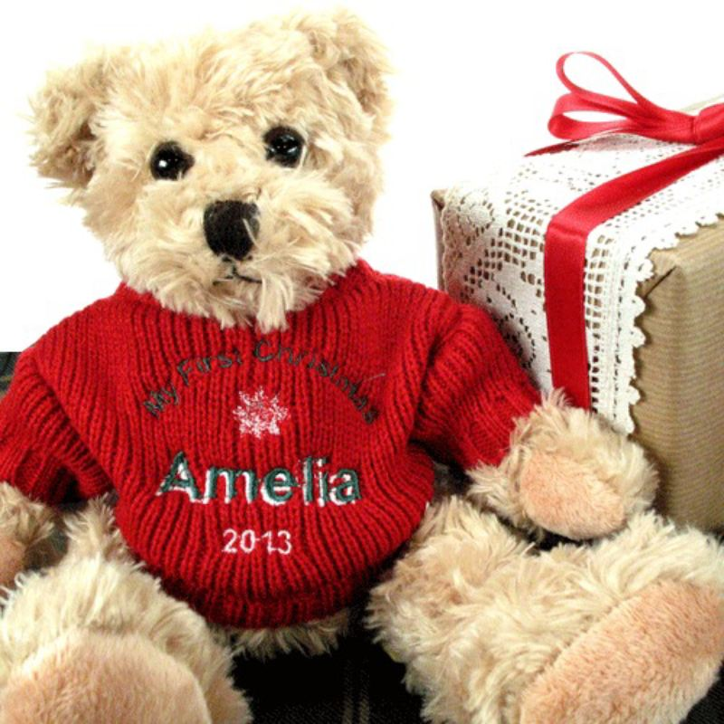 Personalised My First Christmas Teddy Bear product image