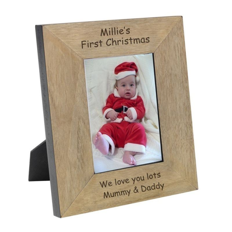 Personalised My First Christmas Wood Frame 6 x 4 product image
