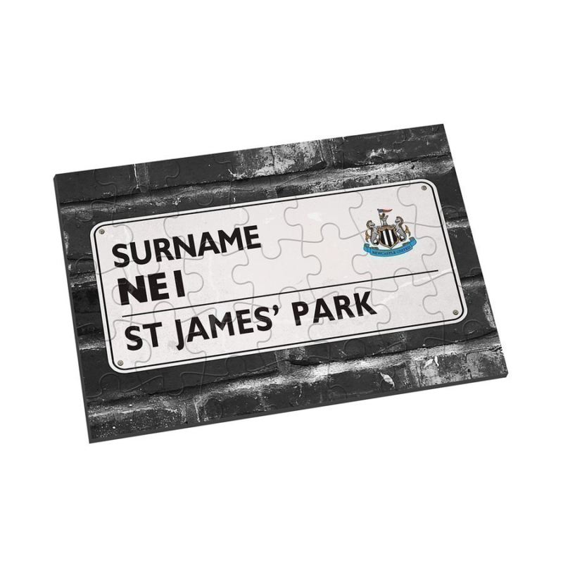 Personalised Newcastle United Street Sign Jigsaw product image