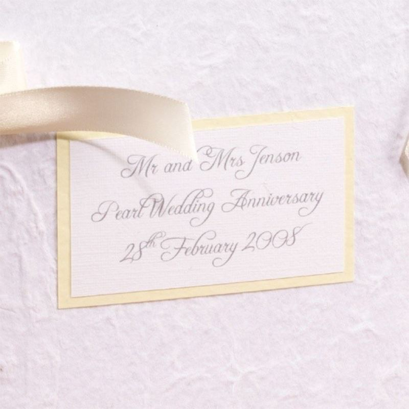 Personalised Pearl Anniversary Photo Album product image