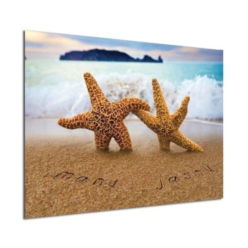 Personalised Poster Starfish Design product image