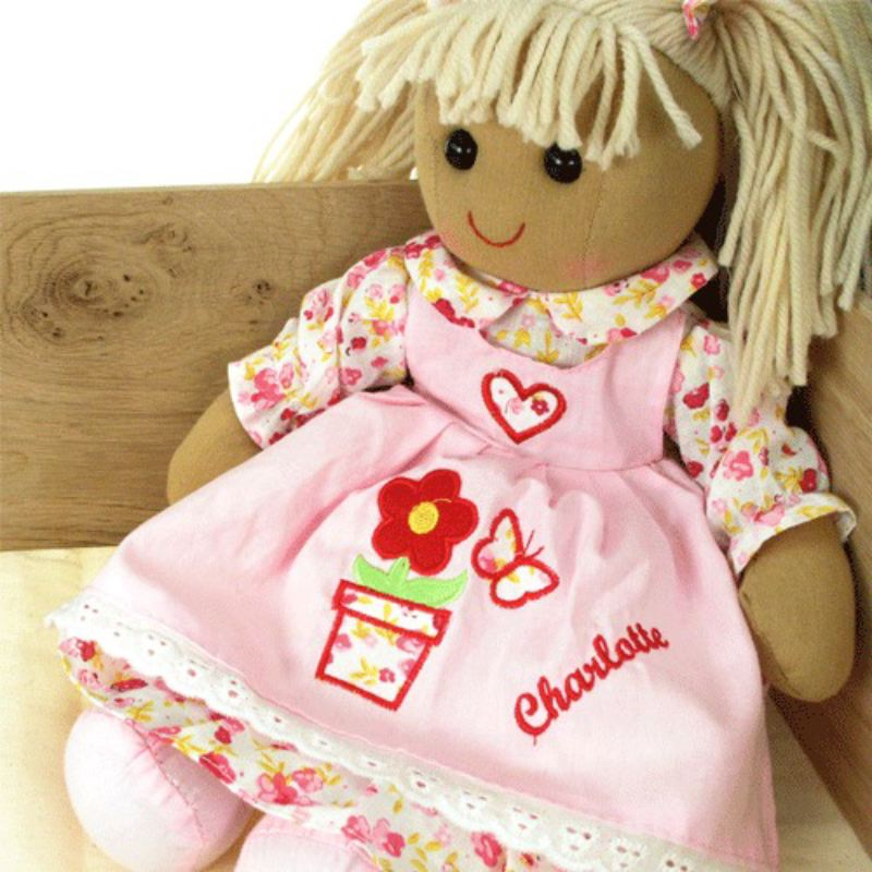 Personalised Powell Craft Rag Doll: Birthday product image