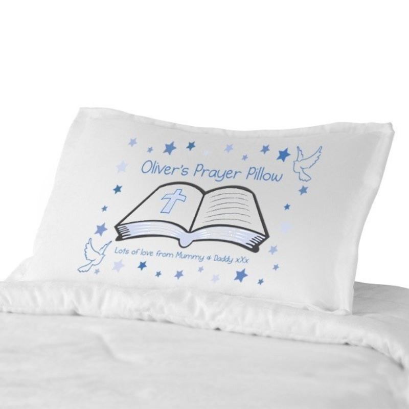 Personalised Prayer Pillowcase Pink or Blue product image