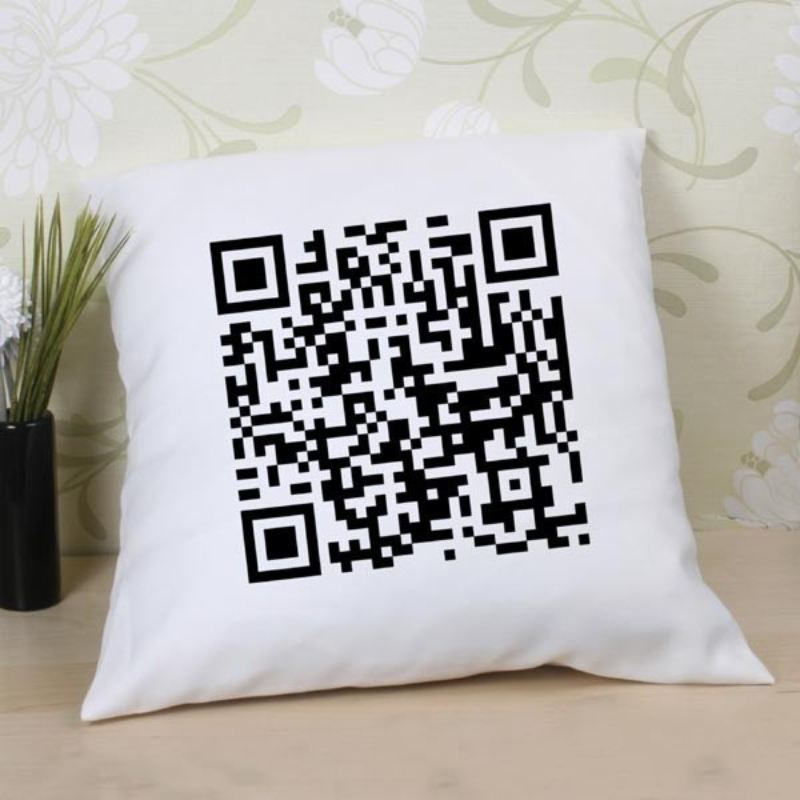 Personalised QR Code Cushion product image
