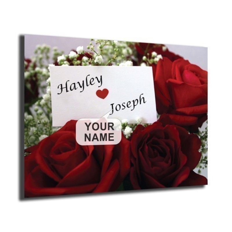 Personalised Roses Design Poster product image