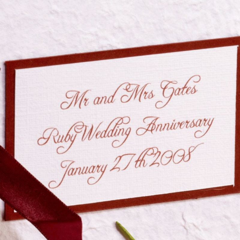 Personalised Ruby Anniversary Photo Album product image