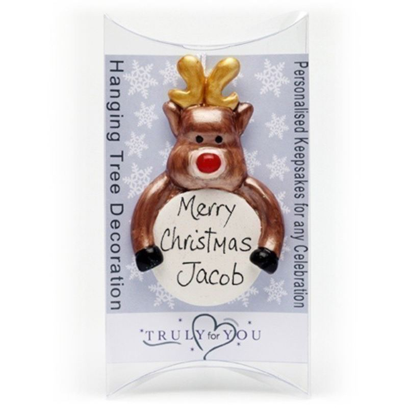 Personalised Rudolph Christmas Tree Ornament product image