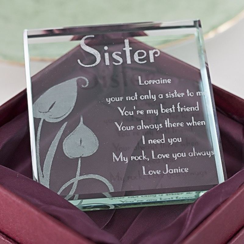 Personalised Sister Glass Keespake product image