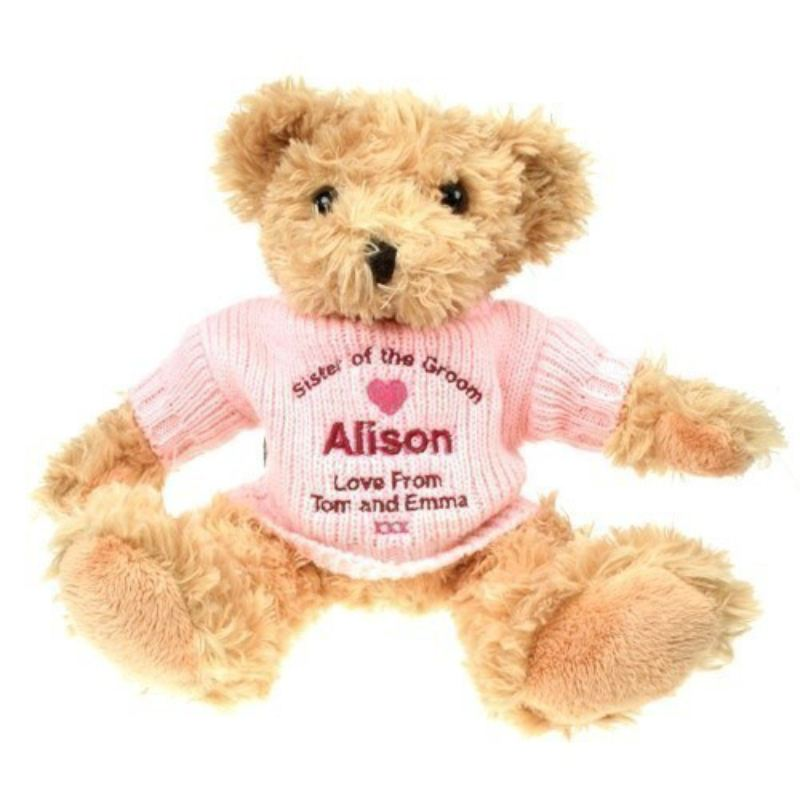 Personalised Sister of the Groom Teddy Bear product image