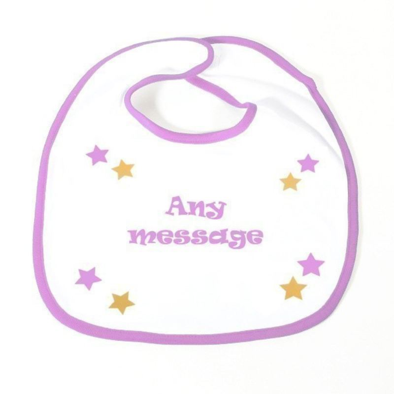 Personalised Slogan Baby Bib product image