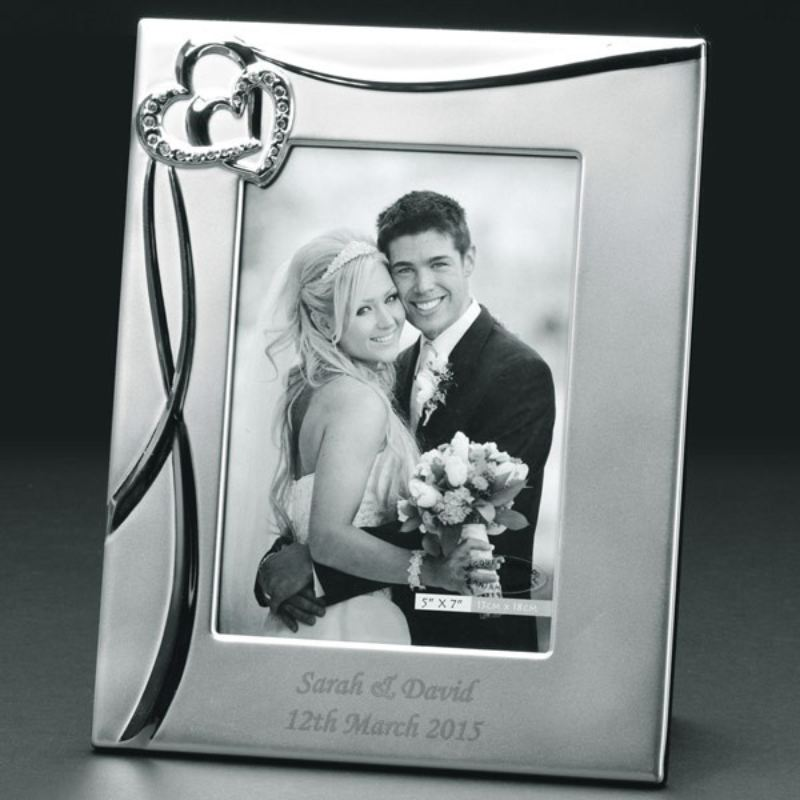 Personalised Sparkling Hearts 8x10 Photo Frame product image