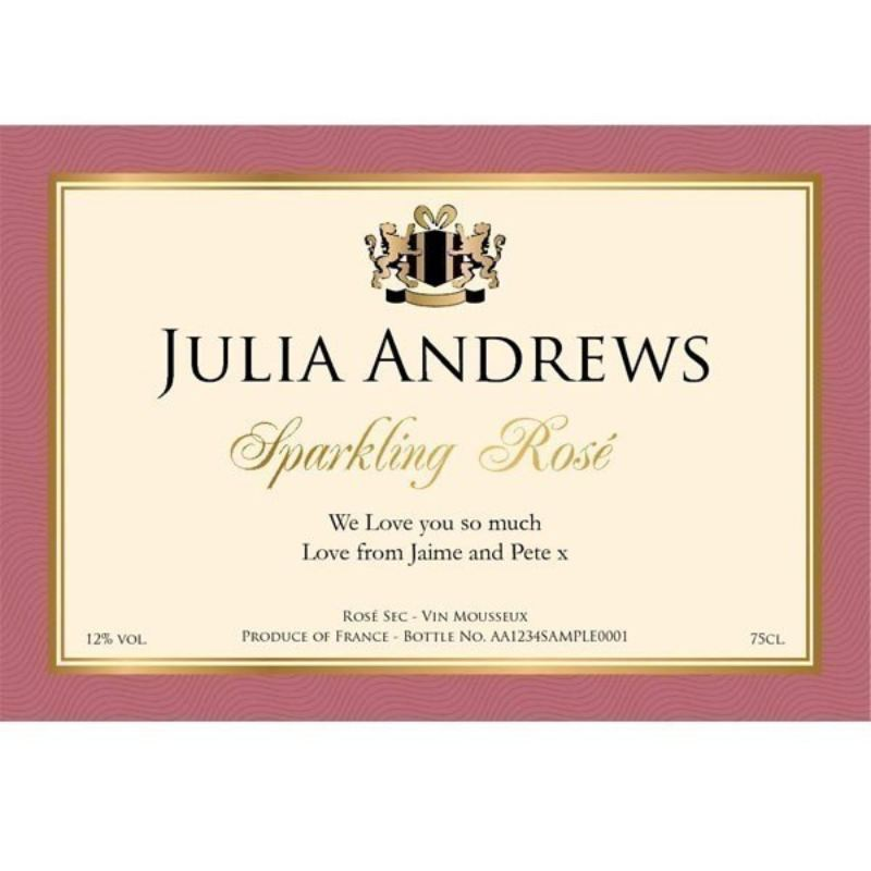 Personalised Sparkling Rose Wine product image