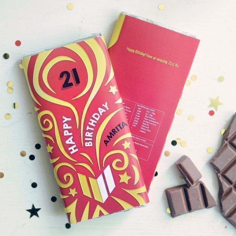 Personalised Special Year Birthday Chocolate Bar product image