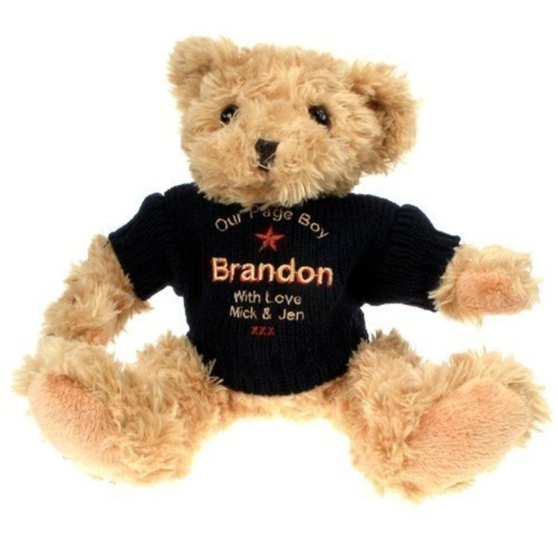 Personalised Teddy Bear for a Page Boy product image