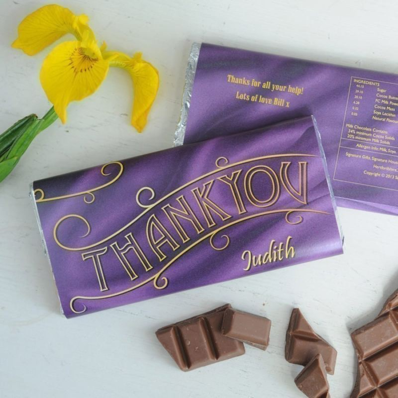 Personalised Thank You Chocolate Bar product image