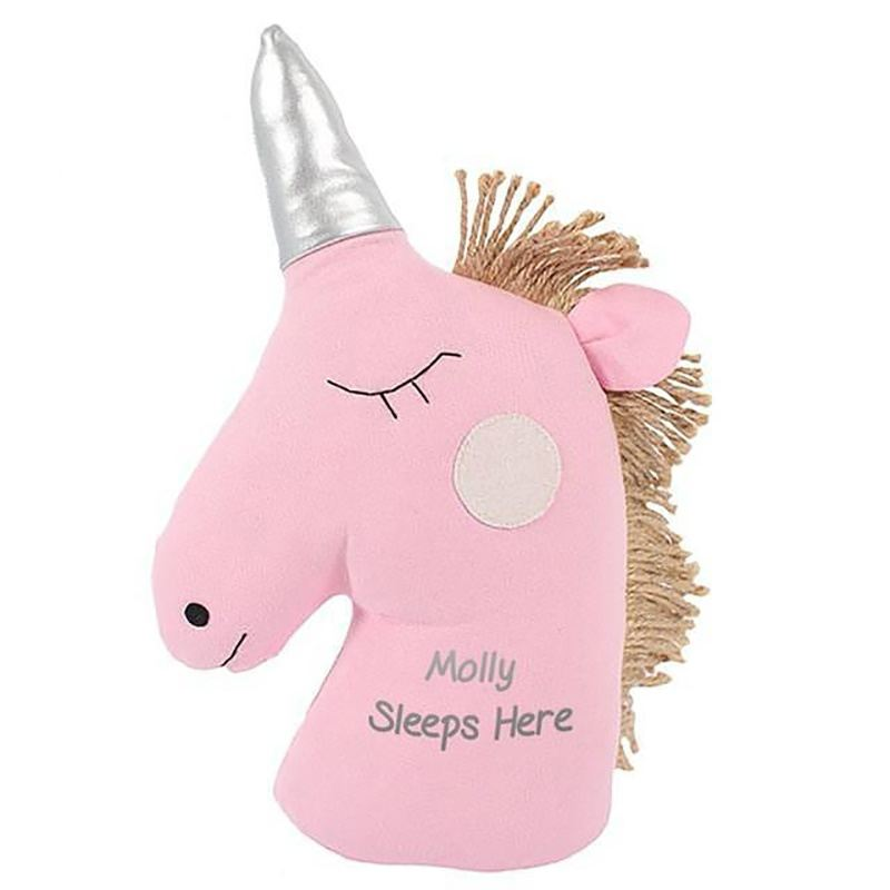 Personalised Unicorn Doorstop product image