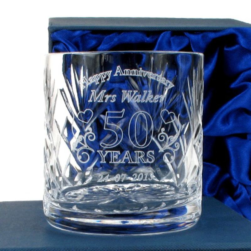 Personalised Wedding Anniversary Whisky Glass for Her product image