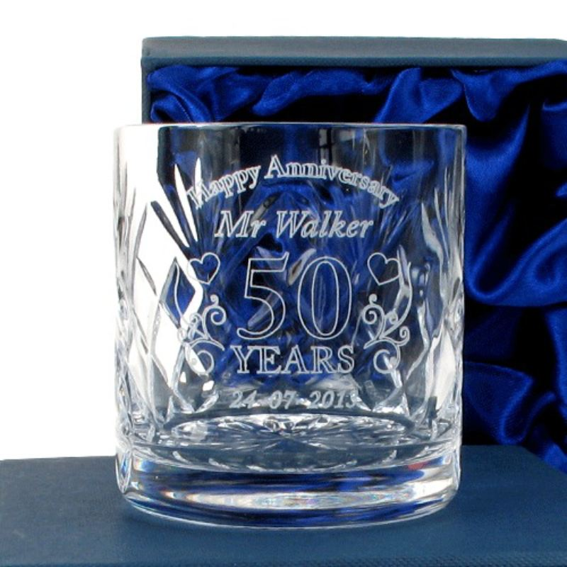 Personalised Wedding Anniversary Whisky Glass for Him product image
