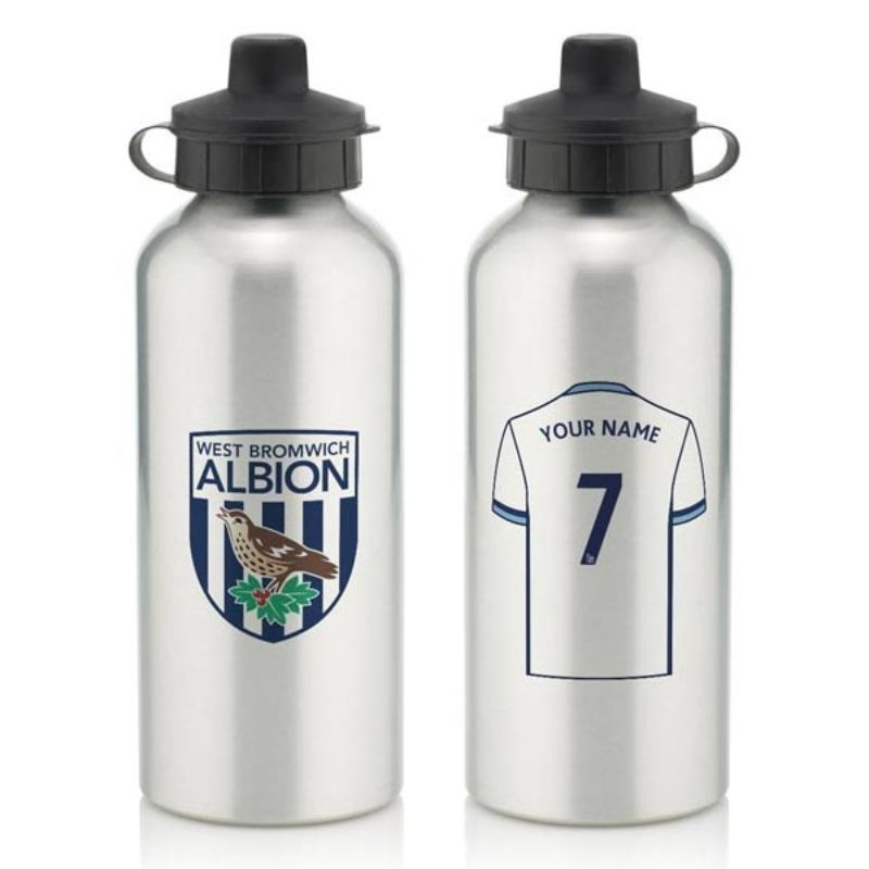 Personalised West Bromwich Albion Aluminium Water Bottle (600ml) product image