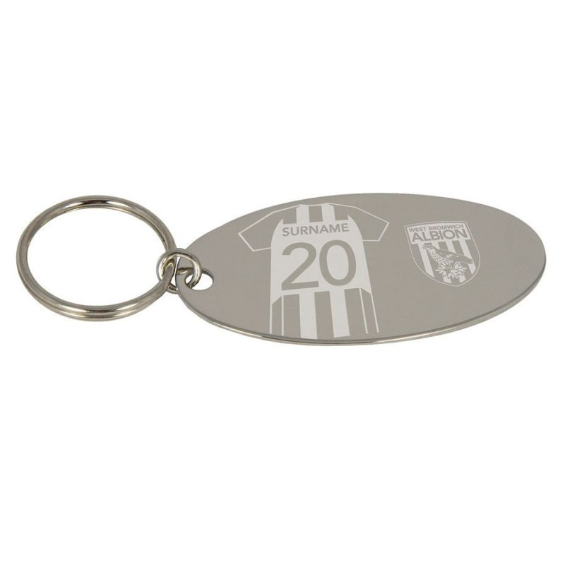 Personalised West Bromwich Albion Football Club Shirt Keyring product image