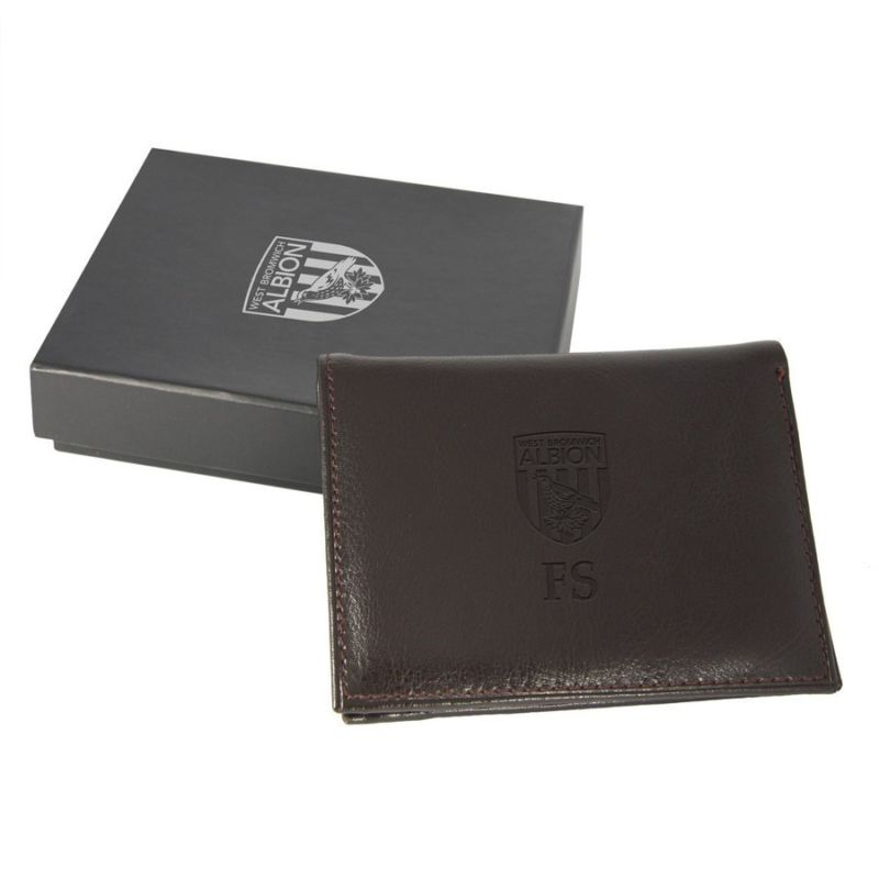 Personalised West Bromwich Albion Genuine Leather Brown Wallet product image