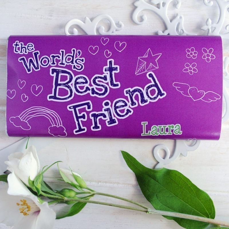 Personalised Worlds Greatest Friend Chocolate Bar product image
