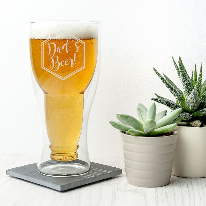 Personalised Bottoms Up Beer Glass product image