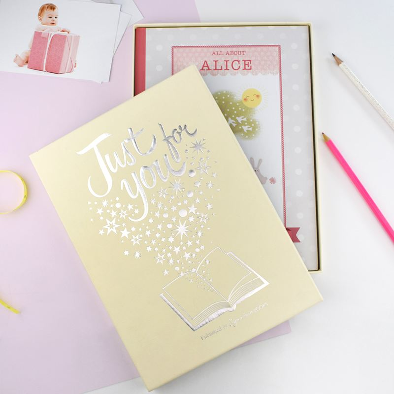 Personalised Girls Baby Record Book product image