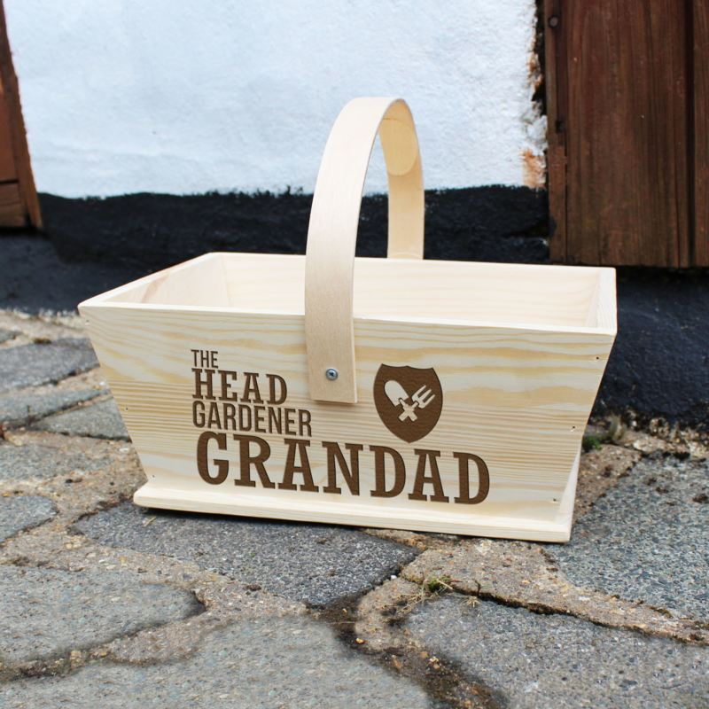 Personalised Head Gardener Trug product image