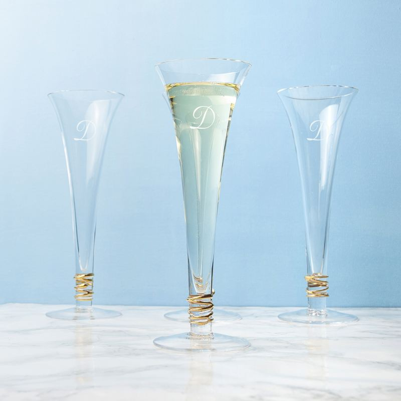 Personalised LSA Gold Prosecco Flutes Set of 4 product image
