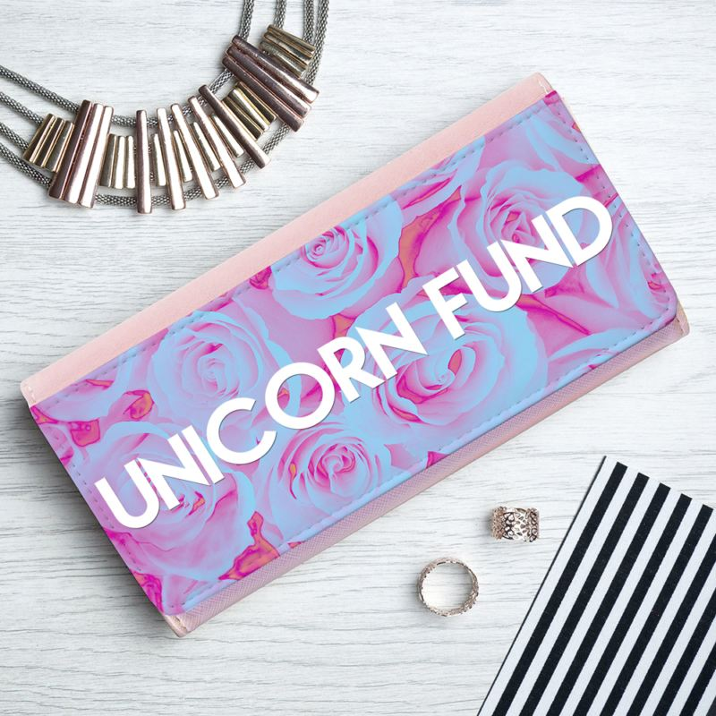 Personalised Pink Rose Ladies Wallet product image